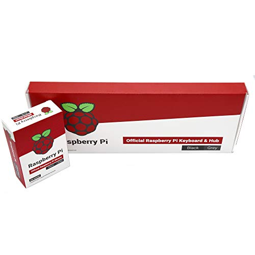 Raspberry Pi Official Keyboard and Mouse Value Pack (U.S. Version Red/White) by PepperTech Digital