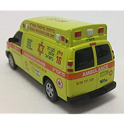 Iconic Replicas Chevrolet Ambulance: Canadian Magen David Adom-Mobile Intensive Care Unit 1:64 Scale Limited Edition: Toys & Games