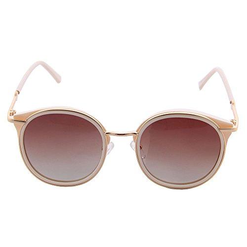 moda gafas mujer la OGOBVCK moderna Cateye es Blanco polarizada gafas espejo sexy gafas uv400 sol de wxzwqtEC