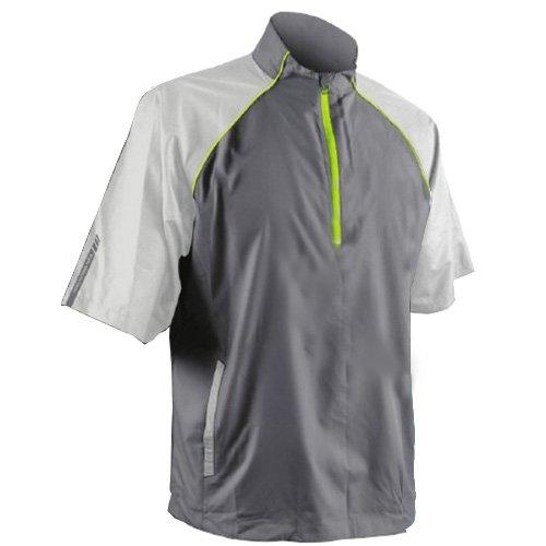 Sun Mountain 2017 Men's Headwind Short-Sleeve Pullover (Gray-Titanium-Lime, Large) ()