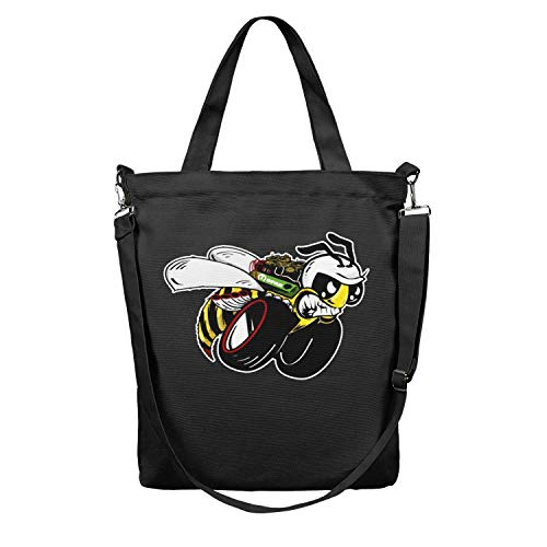 - Womens Tote Shopping Bag Dodge Ram Rumble Bee Canvas Foldable Shoulder Grocery bags Perfect for Shopping,Laptop,School Books