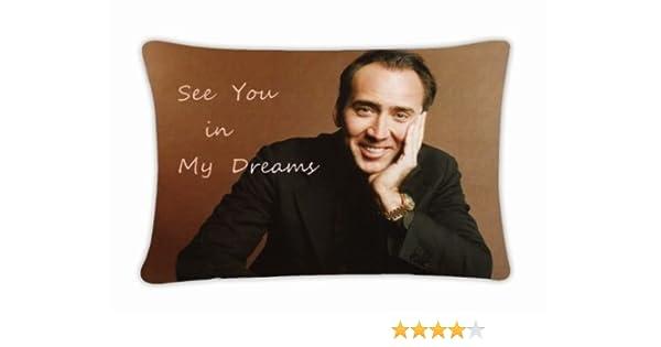 Custom nueva Nicolas Cage manta funda de almohada Funda para cojín funda de almohada fundas de almohada de 20