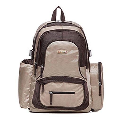 bigforest gran capacidad momia multifunción mochila bolsa de viaje bolso de maternidad Baby Diaper Nappy bolso cambiador Flower Talla:talla única marrón