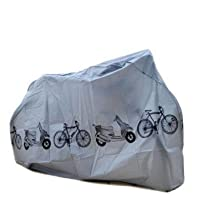 TRIXES Motorbike Bicycle Outdoor Weather Resistant Bike Cover Grey