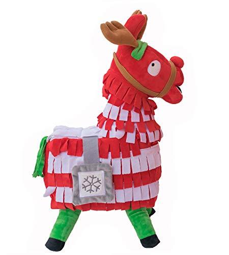 WEPOP Christmas Loot Llama Plush Stuffed Toy Doll Figure, Troll Stash Animal Alpaca Gift for Kids Girls Boys Children (M)
