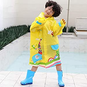 BESPORTBLE Kids Raincoat Poncho Toddler Rain Jacket Children Rainwear Hooded Cape Outwear Baby Fall Winter School Oufits…