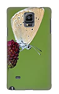 Ellent Design Scarce Large Blue Butterfly Phone Case For Galaxy Note 4 Premium Tpu Case For Thanksgiving Day's Gift