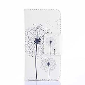 ZXC White Dandelions Pattern PU Leather Full Body Case Card Slots And Stand Case for Samsung Galaxy S5 I9600