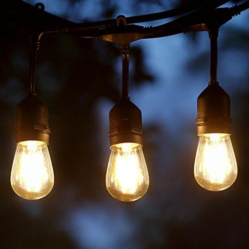 String Lights Screened Porch