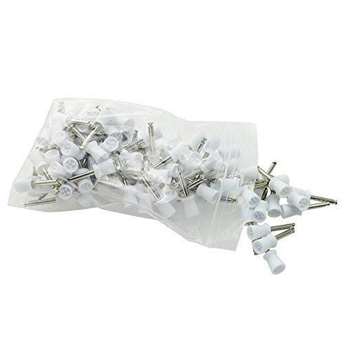 (Careshine White Color 100 PCS Dental Polishing Polish Prophy Cup Brush 4 Webbed Latch Type)