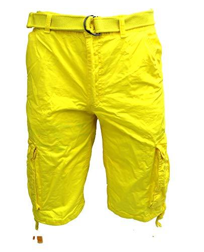 Tank Men's Light Twill Cargo Shorts, Yellow, 44