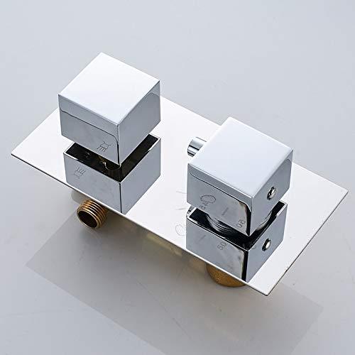 STEDMNY Sistema de Ducha Juego de grifos termost/áticos de Ducha de Lluvia de 16con Ducha de Efecto Cromado Grande de 2 Sistema de Ducha de ba/ñera Oculta con Cabezal Ultrafino