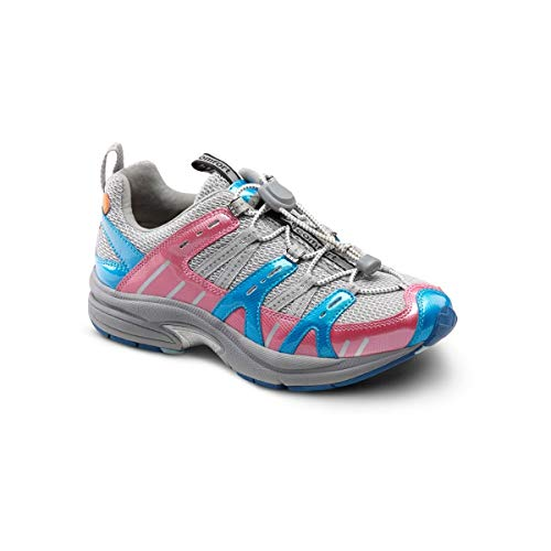 Dr. Comfort Refresh Women's Therapeutic Diabetic Extra Depth Shoe: Grey/Berry 9 Medium (A-B) ()