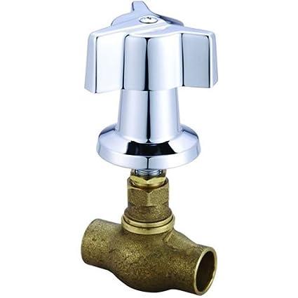 Amazon.com: Central Brass 0607-C3/4 Tile Stop Valve: Home Improvement