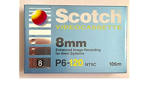 Amazon com: Scotch 8mm P6-120 NTSC Camcorder Videocassette Tape for