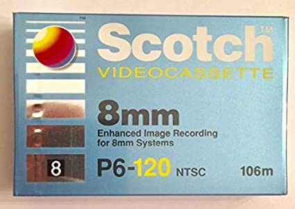 Amazon com: Scotch 8mm P6-120 NTSC Camcorder Videocassette