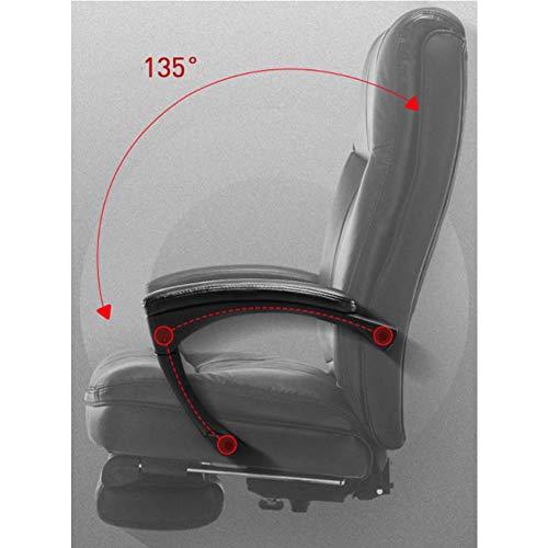 GLMAS Stolar, kontorsstolar, fåtöljer, kontorsstol datorstol spelstol verkställande kontorsstol, läder vilande hem topp läderteknikstol svart