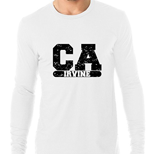 Hollywood Thread Irvine, California CA Classic City State Sign Men's Long Sleeve T-Shirt