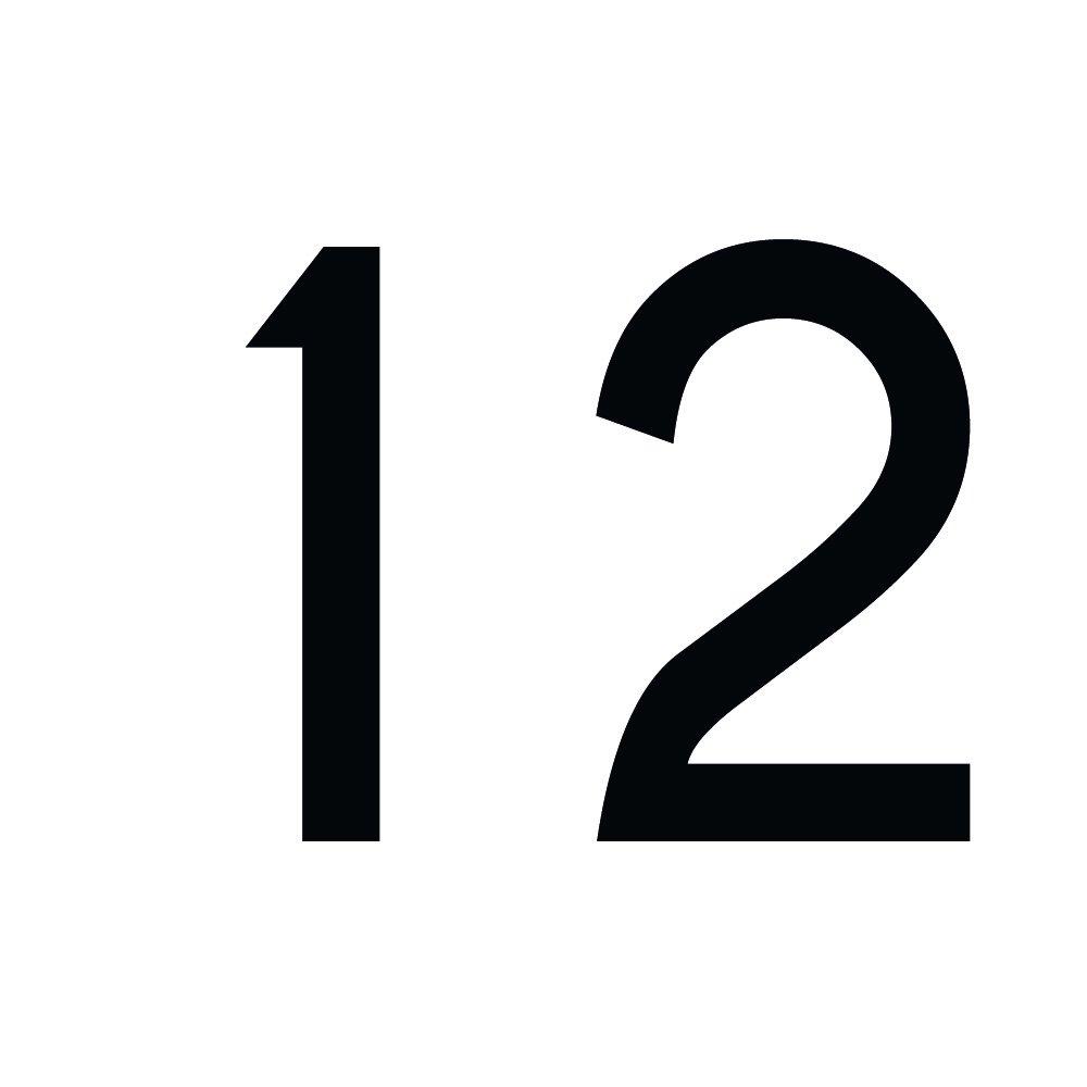 H/öhen 20mm Aufkleber mit Zahlen in vielen Farben 2cm hoch gold Zahlenaufkleber Nummer 2 wetterfest