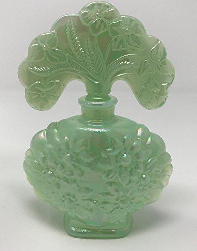 Fenton Art Glass, Perfume Bottle, Sea Green Satin (Parfum Satin)