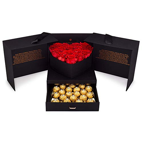 Eternal Roses and Chocolates Gift Box |