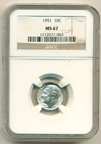 1951 Roosevelt Dime MS67 NGC