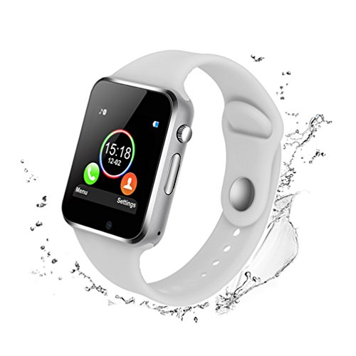 Smart Watches for Android Phones,IOQSOF Anti-lost Touch Screen Bluetooth Smart Watch with Camera,Waterproof Smart Wrist with SIM Card Slot for Android Phones Samsung IOS Iphone 7 7s Plus 6s by IOQSOF
