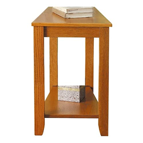Ordinaire Homelegance 4728AK Chair Side Table, Oak Finish