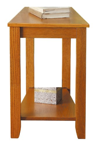 Homelegance 4728AK Elwell Wedged Chairside Table, Oak (Oak Accent Chair Finish)