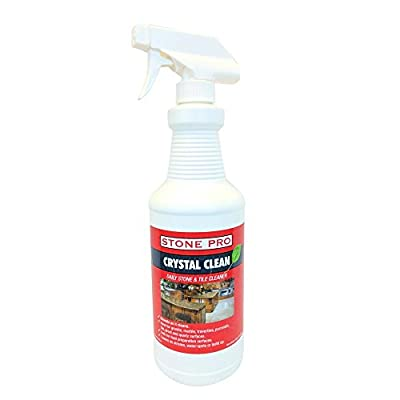 Stone Pro Crystal Clean - Daily Stone and Tile Cleaner - Ready To Use (RTU) - 32 ounce Spray