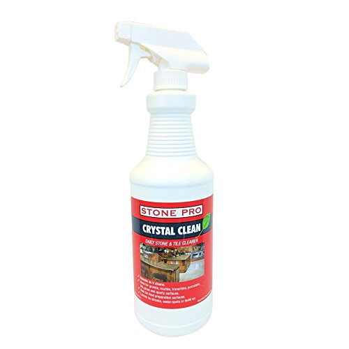 - Stone Pro Crystal Clean - Daily Stone and Tile Cleaner - Ready To Use (RTU)  - 32 ounce Spray