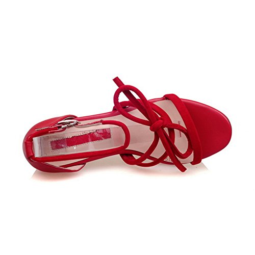 Womens Sandals Urethane Cold Closed Red DIU00641 Sandals Lining AN Toe dHxwYgI0dq