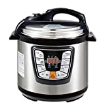 Electric Pressure Cooker 6 Quart Multi-Functional Programmable Pressure Cooker, Slow Cooker, Rice Cooker, Steamer, Sauté, Yogurt Maker, Hot Pot and Warmer, Full Accessories Included,Stainless Steel