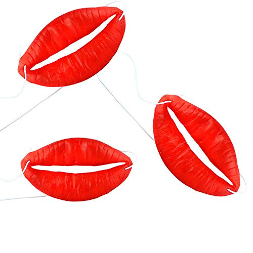 Scary Mask Selfie - WeiYun Funny Lips Decor Props ,Halloween/Wedding/Selfie/Party/Photo/Booth/Signs