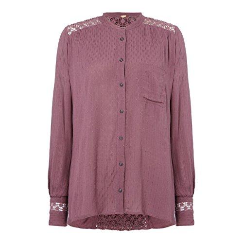 大いに芸術的先住民フリーピープル トップス シャツ The Best V Neck Long Sleeve Blouse In Pu purple [並行輸入品]
