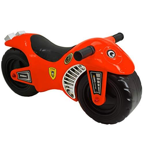 deAO Moto Corre Pasillos sin Pedales Bici de Equilibrio para Edades Tempranas *Color ROJO*