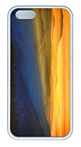 fashion cover Beatiful amazing sunset landscape TPU White Case for iphone 5/5S