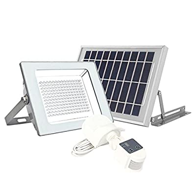 2000 Lumen - MicroSolar 180 LED Solar Security Light - Lithium Battery - Digitally Adjust TIME & LUX by Button --- Motion Sensor Light - As Bright as the AC Powered Light