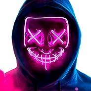 MeiGuiSha LED Halloween Light Up Purge Mask Women,Halloween Scary Cosplay Purge Mask LED for Festival Padrties