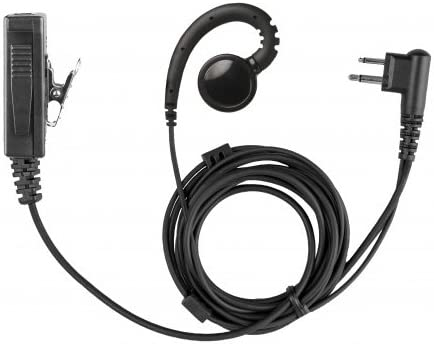 Swivel 2-Wire Earpiece and Microphone Headset Accessory for Motorola 2-Pin CLS1110 1410 CP200D HYT TC-508 Bearcom BC130 BC95 BC250D Two-Way Radios