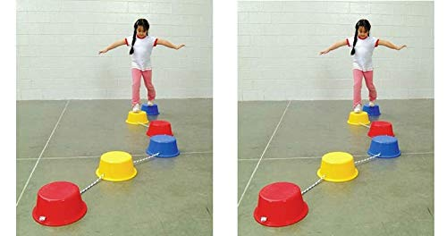 School Smart Stepping Buckets Balance Builders - 5 x 12 inch (2 X Pack of 6)
