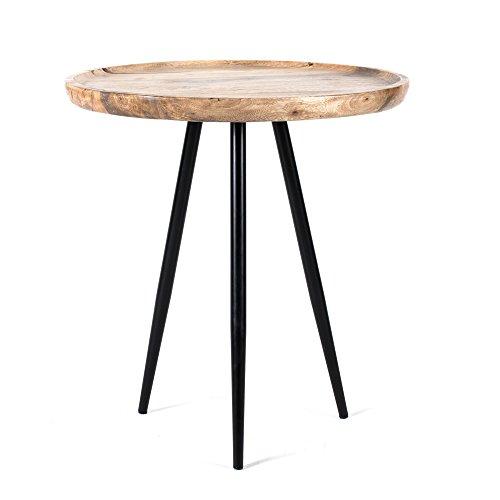 Madeleine Home Chervey Natural Mango Wood Living Room Side Table
