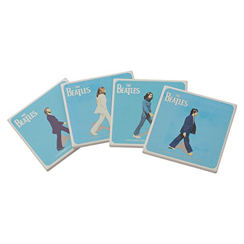Vandor The Beatles Abbey Road 4 Piece Ceramic Coaster Set - Glass Coaster Four Piece