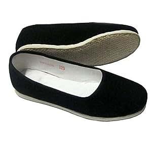 Mujer Artes Marciales Tradicional hecha a mano zapatillas para Kung Fu Zapatos negro Talla:2