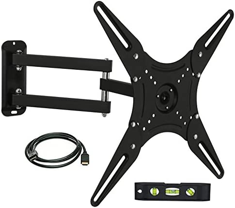 Mount-It MI-2065L Full Motion Swivel Articulating Arm LCD, LED 4K TV Wall Mount Bracket for 23-55 inch Screen Size, Compatible with VESA 400×400, 66 lbs Capacity, Tilt, Swivel, and Rotation Motion