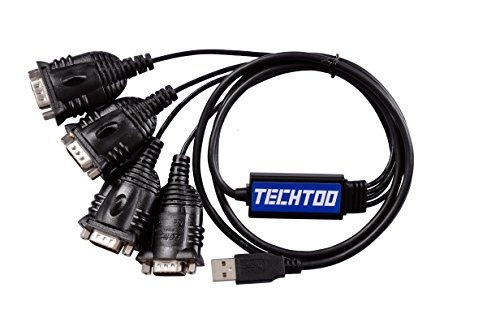 TECHTOO® 4 Port Professional FTDI CHIP USB to Serial RS232 DB9 Adapter Cable STKC-USB2-RS232