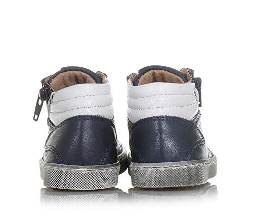 CIAO BIMBI - Zapatilla de cordones azul de cuero, curada en todos los detalles y capaz de combinar estilo, Niño, Niños