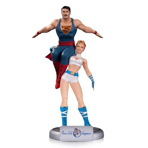 (DC Comics Bombshells Power Girl and Superman Statue)