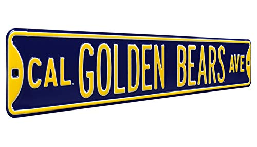 (Authentic Street Signs 70103 Cal UC Berkeley Golden Bears, Heavy Duty, Steel Street Sign, 36
