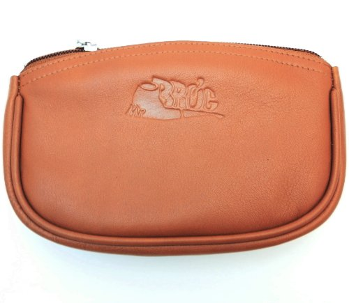 (Sheep Napa Leather Tobacco Pouch with Rubber Lining to Preserve Freshness)
